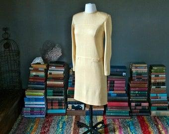 Vintage YELLOW MOD shift DRESS