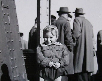 Vintage Photograph - Little Boy Stood Outside