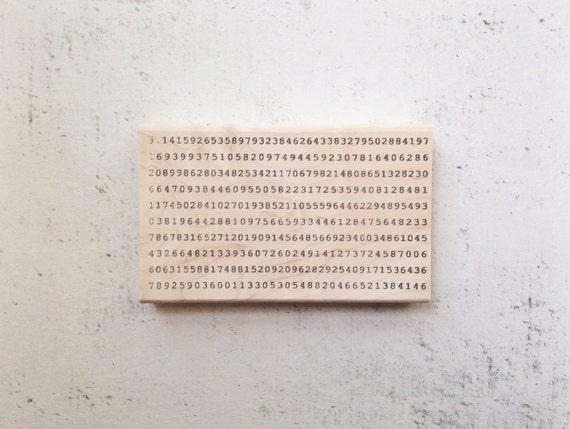 The Digits of Pi Math Rubber Stamp