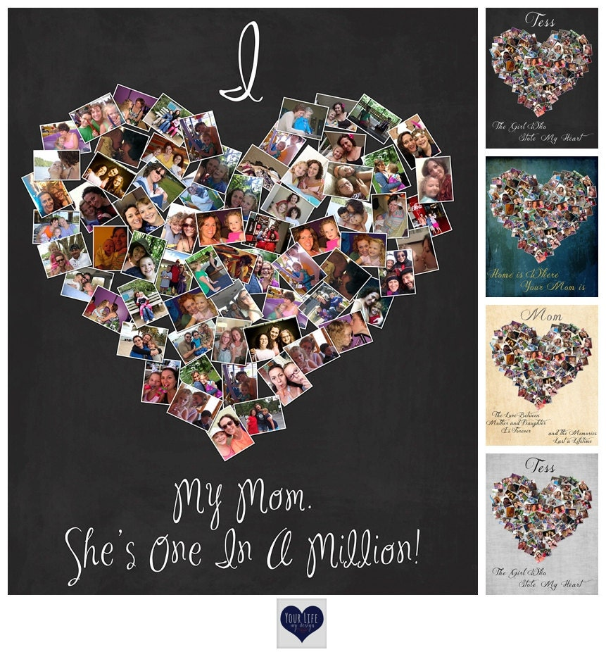 Mother's Day Gift For Mom Personalized Photo Collage