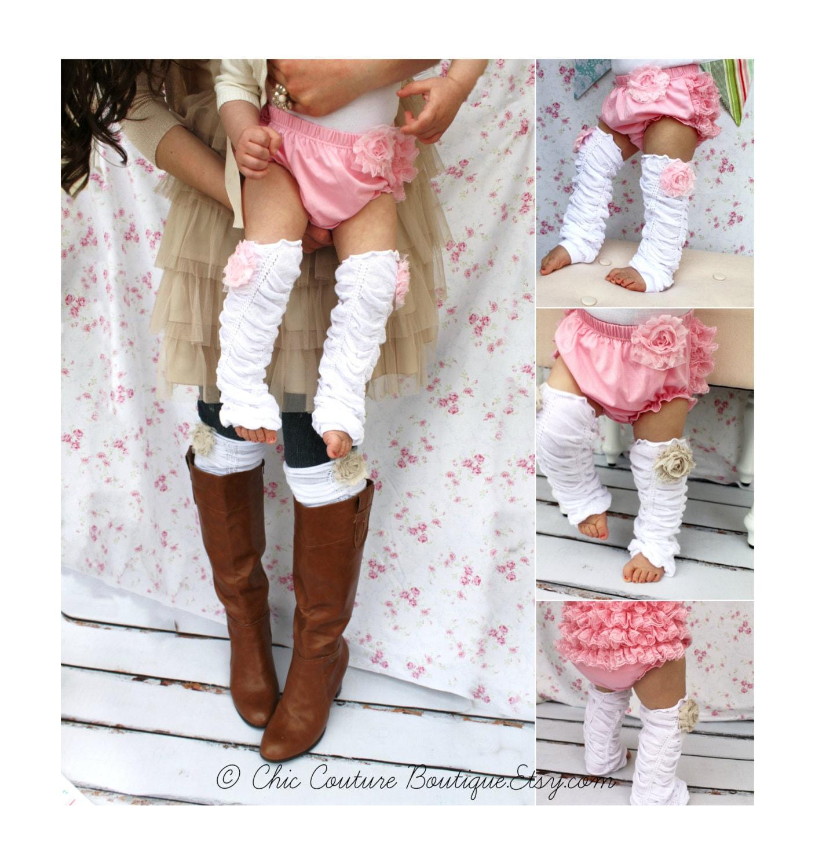 Christmas Gift Baby Girl Chiffon Rose Ruffle Leg Warmers. Boot