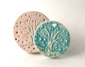 Ceramic Stamp, Winter Tree Design, Storm and Snowflakes, Ice Cold December, Handmade Tool for Pottery, Ceramics, Polymer Clay