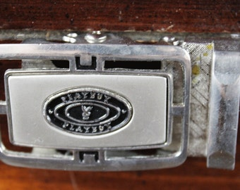 Vintage Playboy Belt Buckle - Vintage Silver Beltbuckle