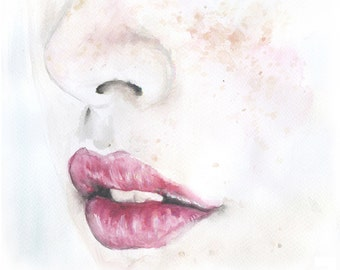 Watercolor Lips | www.pixshark.com - Images Galleries With ...