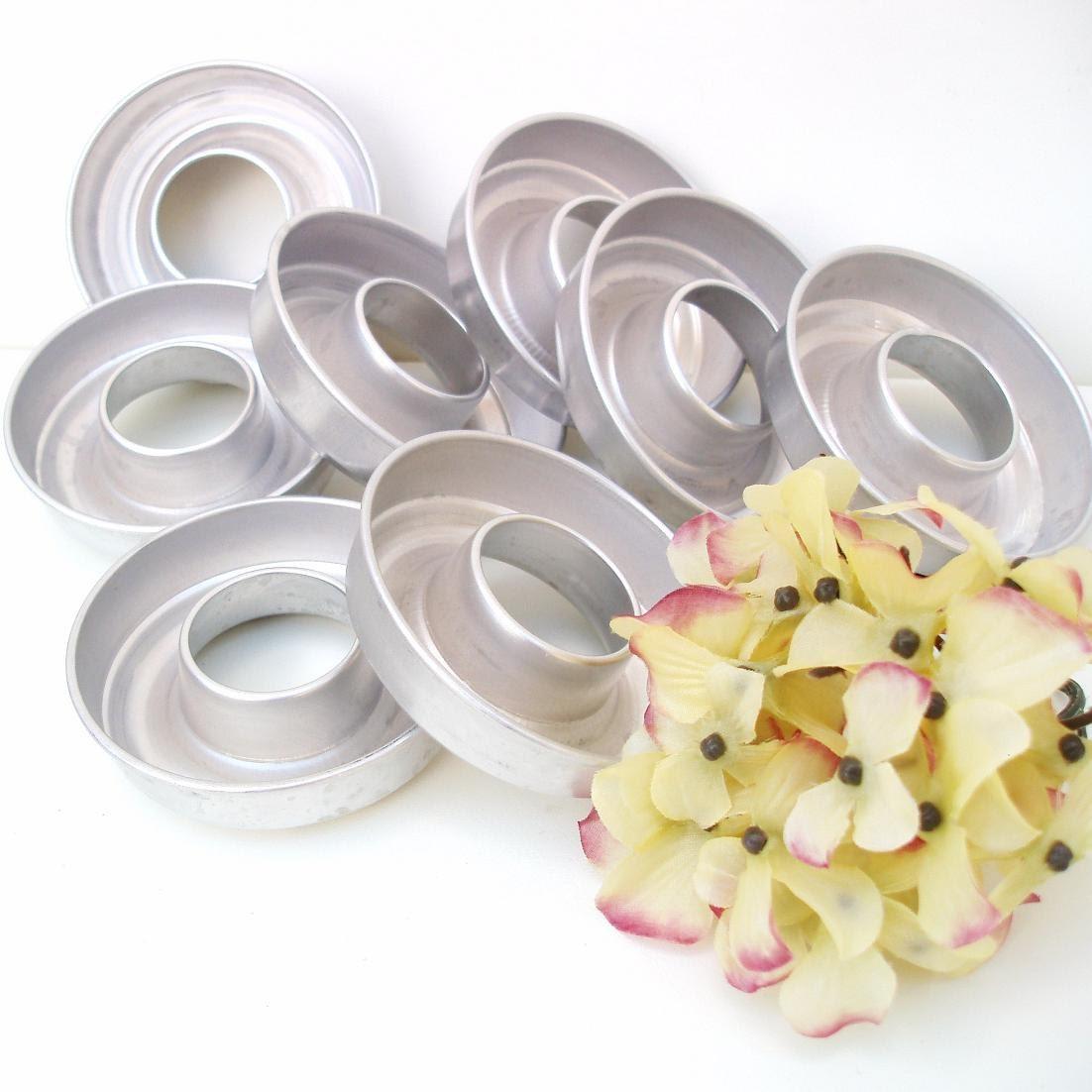 Vintage Mini Bundt Pans Aluminum Jello Molds Metal Baking Tins