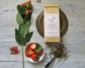 Organic Berry Bold Green Tea • 4 oz. Kraft Bag • Loose Leaf Wellness Tea Blend
