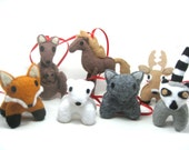 Custom Plushie Totem Ornament--kawaii felt woodland animal holiday ornament choose your own style