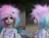 Rainbow Tipped BJD Wig 8/9, 7/8, 6/7, 5/6, 4, 3
