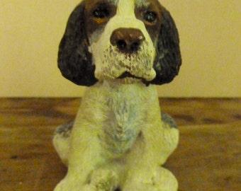 Vintage Resin Springer Spaniel Dog Figurine