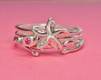 Stacking rings spring blossom