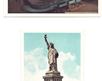 Two Vintage New York Souvenir Postcards - 1940s - Free Shipping