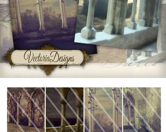 Gothic Backgrounds ATC images digital background instant download printable collage sheet VD0184