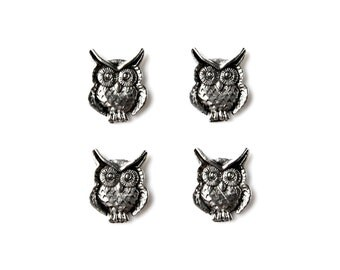 Owl Tuxedo Shirt Studs - Shirt Buttons - Men's Jewelry - Gift Idea - Handmade - Gift Box Included