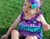 Under the Sea Birthday Outfit - Little Mermaid Birthday Outfit - Purple Birthday Outfit