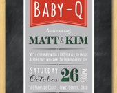 Barbecue Baby-Q Baby Shower Invitation Printable