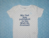 PERSONALIZED Baby Onesie You Design with Your Own Message or Image