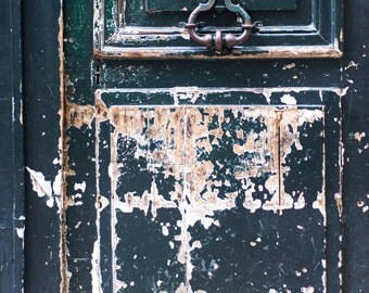 Paris Photography - Rustic Weathered Door, Paris Architectural Fine Art Print, French Home Decor, Large Wall Art