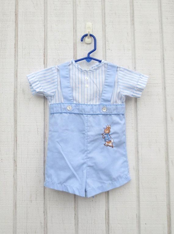 Vintage Baby Clothes Peter Rabbit Baby Onesie Toddle Beatrix