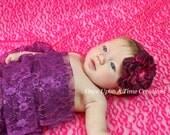 Maroon Dahlia Flower - Large Flower Headband - Child Hair Bow - Newborn Baby Girl Photo Prop Hairbow - Valentine's Day Hair Piece Christmas