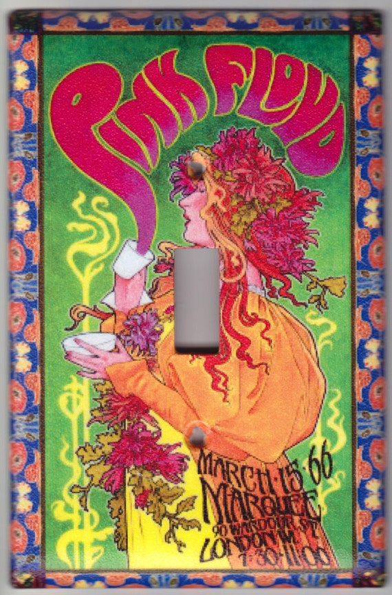 Pink Floyd Art Nouveau Music Poster Switchplate Covers