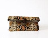 Snakeskin foldover clutch, Clutch bag purse, Animal print