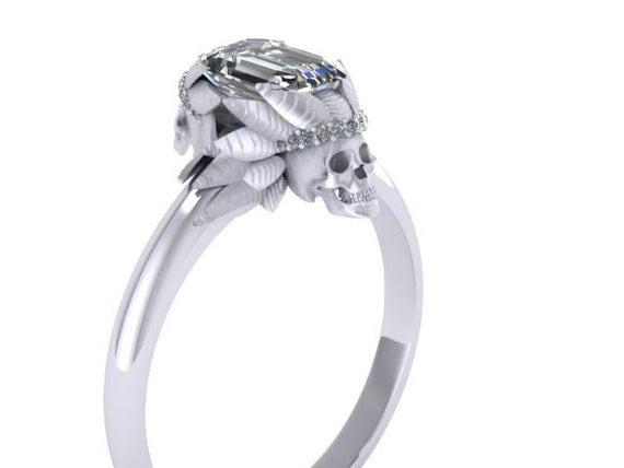 070 075ct Emerald Cut Diamond Ring Native American