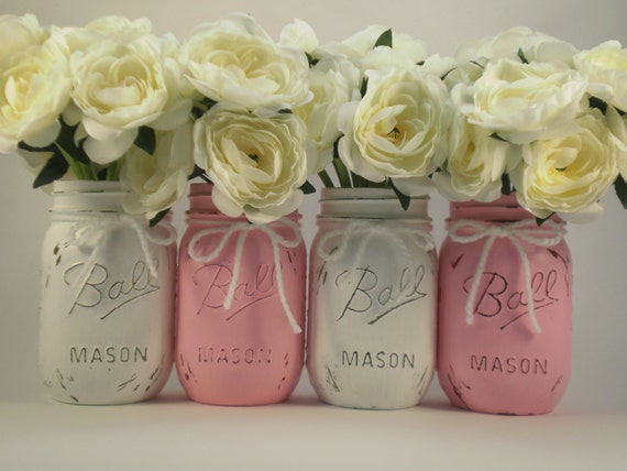 baby shower centerpiece baby shower mason jars shabby chic mason jar