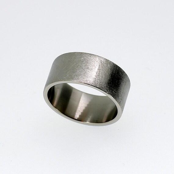 10 00mm wide scratched palladium wedding band by