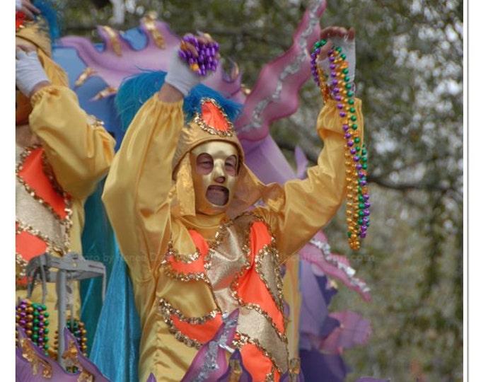 Throw Me Some Beads Photograph - Mardi Gras