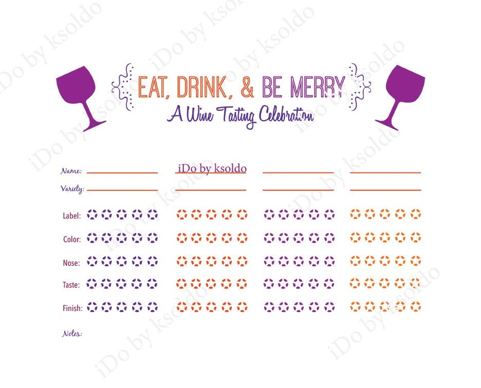 It is an image of Playful Wine Tasting Sheets Printable