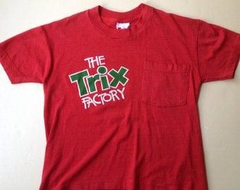 70s 80s Vintage Trix Factory Rabbit cereal T-Shirt - Youth MEDIUM 10-12