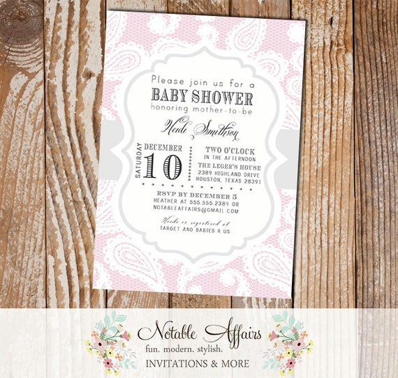 Light blush pink paisley and lace baby shower birthday or bridal il570xn filmwisefo