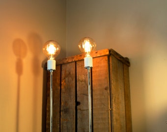 Repurposed & Upcycled Weston Electric Analog Voltmeter Lamp - Industrial Lighting Table Lamp Steampunk Statement Piece