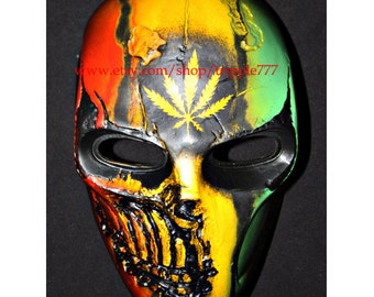 Army of two mask, Paintball airsoft mask, Halloween mask, Steampunk mask, Halloween costume & Cosplay mask, R2 Bob marley MA135 et