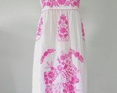 Mexican Embroidered Sundress Cotton Strapless In White With Lining