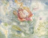 original watercolor -  fairies