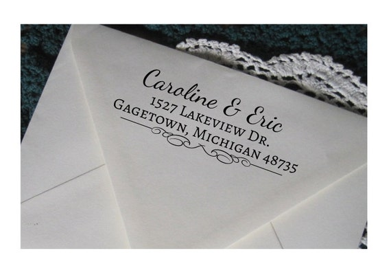 Personalized Return Address Stamp Custom Address Rubber
