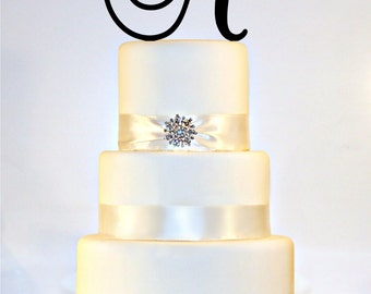 "6"" Monogram Wedding Cake Topper in Any Letter A B C D E F G H I J K L M N O P Q R S T U V W X Y Z"