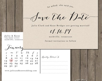 Printable Save the Date Postcard - the Bailey Collection