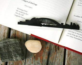 Sydney, Australia - Hand-cut Silhouette Bookmark, Australia Bookmark, Sydney Skyline, Cut Paper