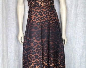 Vintage 90's Silk Leopard Dress