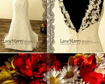 Applique Wedding Dress, Sparkly Beading Wedding Dresses, V Back Wedding Dresses, Wedding Dress, Hand Beading Gowns, Slim Wedding Dresses