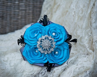 FullPrice Bridesmaid or Toss Brooch Bouquet Made to Order in your colors. Handmade roses.
