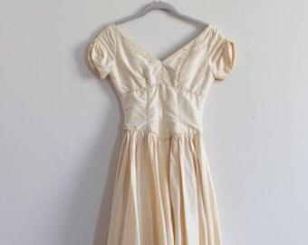 "1950's Couture ""Jay Thorpe"" tea-length dress / XS"