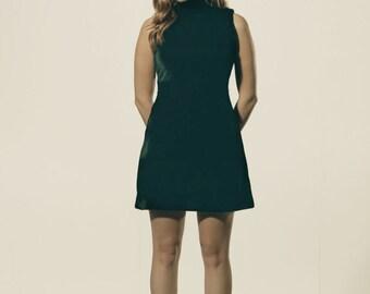 Green Velvet Vintage style dress