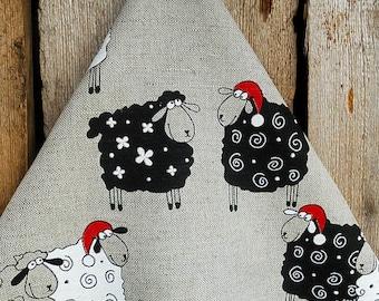 Christmas Towel Sheep Tea Towel Kitchen Towel Christmas Sheep Christmas Tea Towel Dish Towel Lamb Towel Christmas Decor Christmas Gift