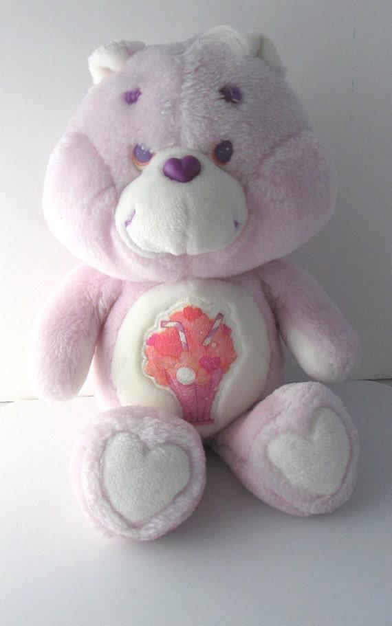 care bears share bear stuffed toy plush kenner vintage 1980s