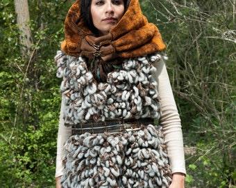 "Doudoune sleeveless wool fur ""Streetnuits"" - 38 M / 40L"