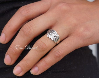 Bird Wing Ring Sterling Silver, Available in Silver, Yellow Gold or Rose Gold, Bird Wing Ring, Silver Wing Ring, Wing Jewelry
