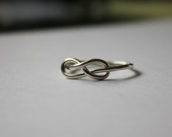 Infinity Knot Ring, Silver Love Knot Ring, Silver Stacking Ring, sterling silver ring, Promise ring, Knot Ring, Bridesmaids gift